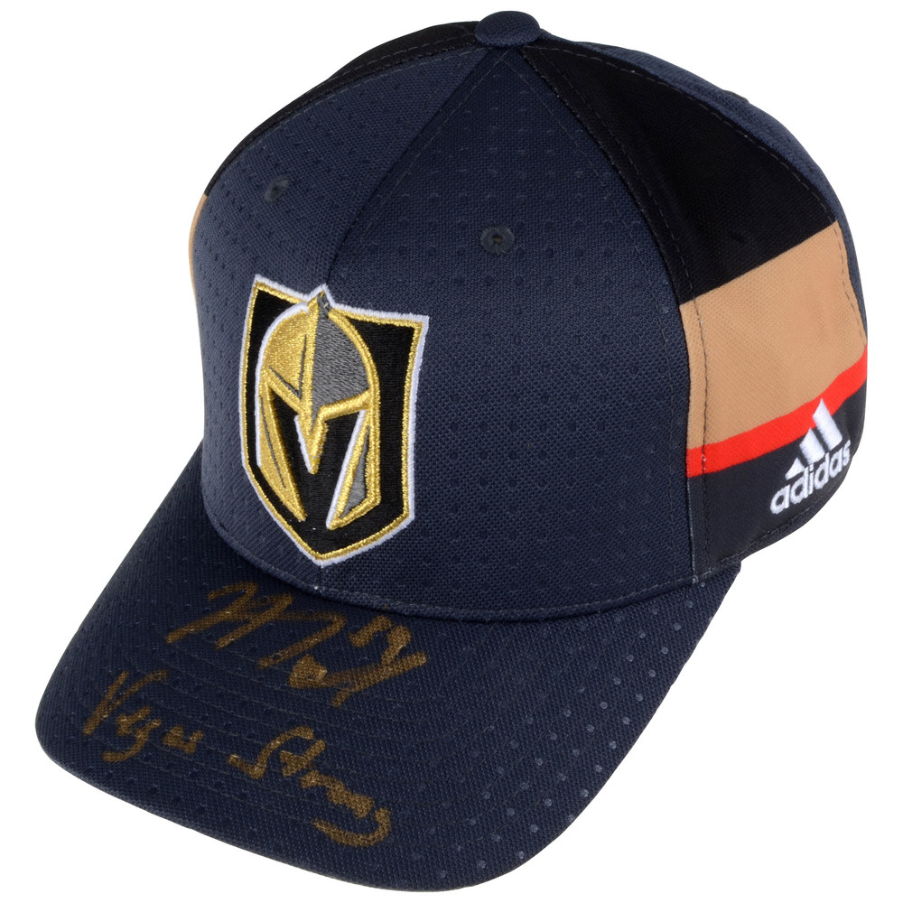 Alex Tuch Vegas Golden Knights Autographed Adidas Cap with Vegas Strong Inscription
