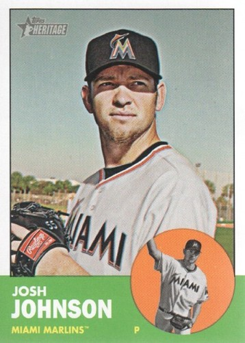 Photo of 2012 Topps Heritage #496 Josh Johnson SP