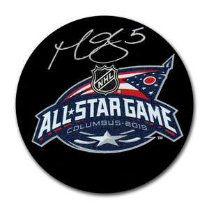 Mark Giordano Autographed 2015 NHL All-Star Game Puck (Calgary Flames)