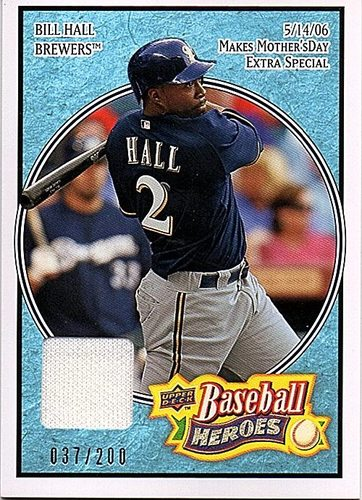 Photo of 2008 Upper Deck Heroes Jersey Light Blue #129 Bill Hall