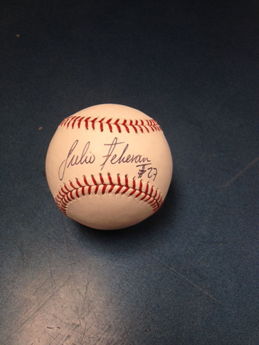 Braves Charity Auction: Julio Teheran Autographed Baseball