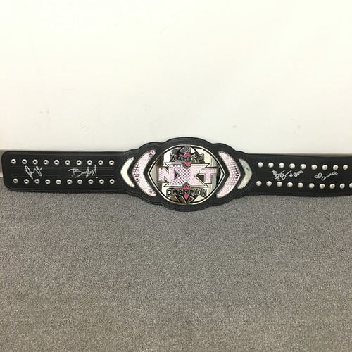 Photo of Paige, Charlotte, Sasha Banks & Bayley SIGNED NXT Women's Championship Title