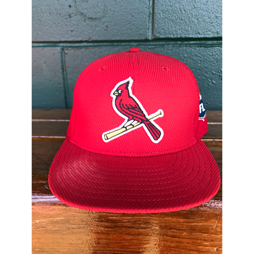 Photo of Cardinals Authentics: Mike Leake Game Worn 2016 Spring Training Cap