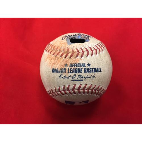 Photo of MLB Debut -- Amir Garrett to Leake -- Game-Used Baseball from MLB Debut -- CIN @ STL on April 7, 2017