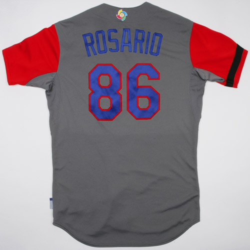 Photo of 2017 WBC Dominican Republic Game-Used Road Jersey, Rosario #86