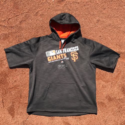 Photo of San Francisco Giants - Player Collected and Autographed Fleece - Hunter Strickland
