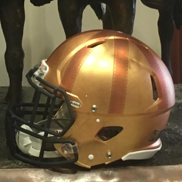 Rockne Heritage Football Helmet (D)