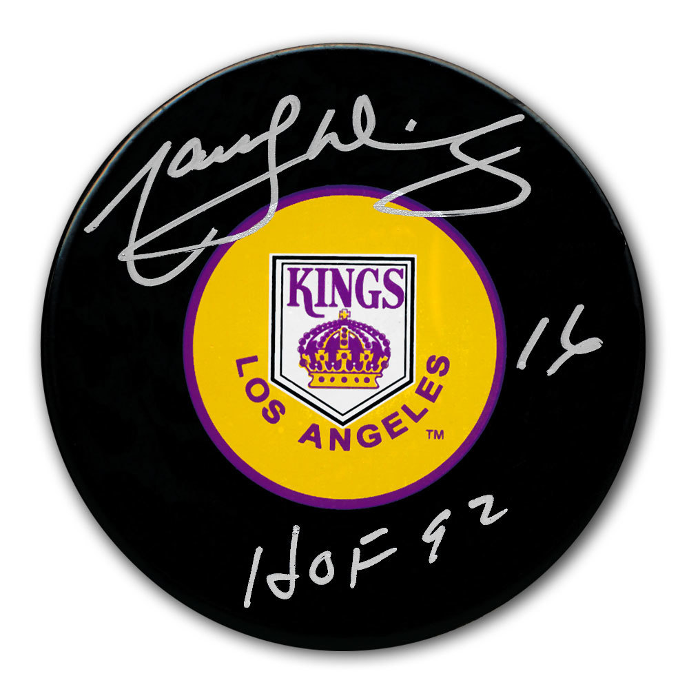 Marcel Dionne Los Angeles Kings HOF Autographed Puck