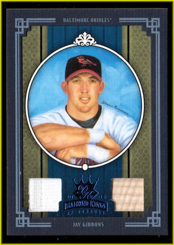 Photo of 2005 Diamond Kings Materials Framed Blue #319 Jay Gibbons Bat-Jsy/100