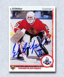 Ed Belfour Autographed 1990 Upper Deck Rookie Card - Chicago Blackhawks
