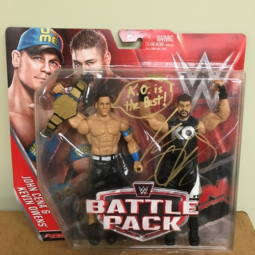 Photo of Kevin Owens SIGNED Battlepack Action Figure Set