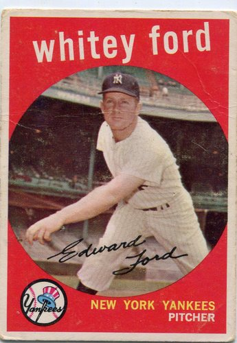 Photo of 1959 Topps #430 Whitey Ford -- Yankees Hall of Famer