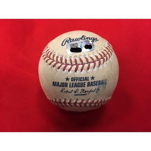 Photo of MLB Debut -- Amir Garrett -- Game-Used Baseball from MLB Debut -- CIN @ STL on April 7, 2017