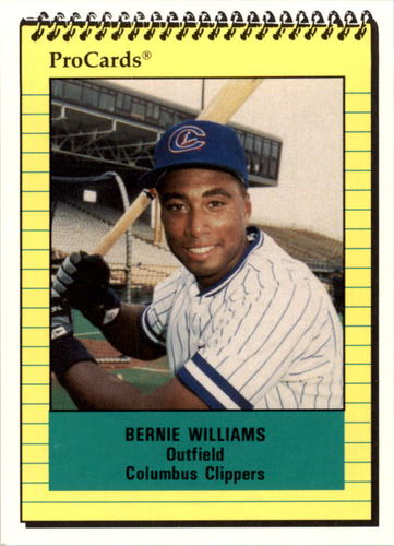 Photo of 1991 Columbus Clippers ProCards #612 Bernie Williams