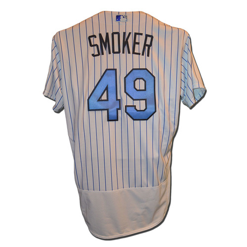 Photo of Josh Smoker #49 - Team Issued Father's Day Jersey - Mets vs. Nationals - 6/18/17