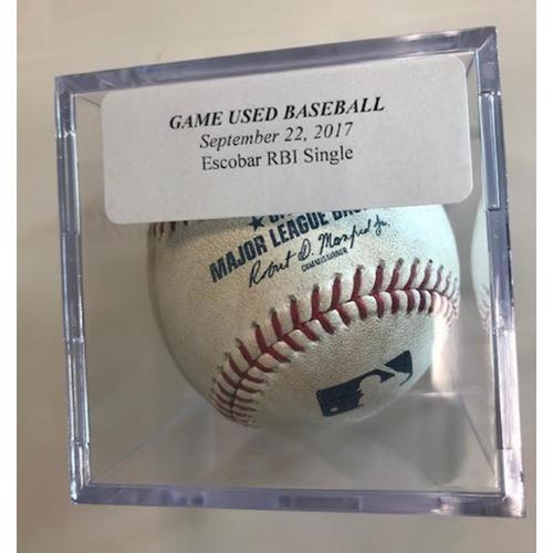 Photo of Game-Used Baseball: Eduardo Escobar RBI Single