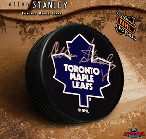 ALLAN STANLEY Signed Toronto Maple Leafs Hockey Puck