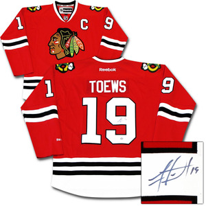 Jonathan Toews Autographed Chicago Blackhawks Jersey