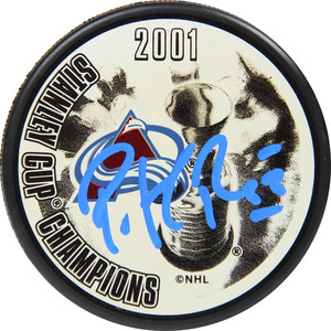 Patrick Roy Colorado Avalanche Signed 2001 Stanley Cup Champions Puck