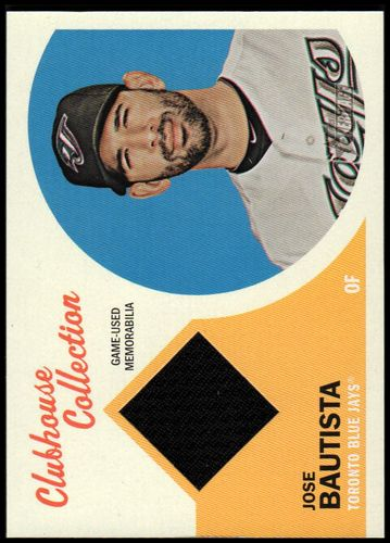 Photo of 2012 Topps Heritage Clubhouse Collection Relics #JB1 Jose Bautista