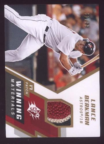 Photo of 2009 SPx Winning Materials Patch #WMLB Lance Berkman