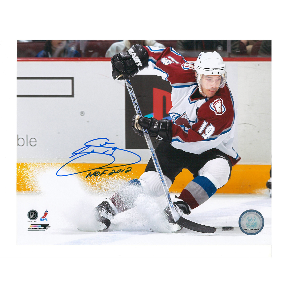JOE SAKIC Signed Colorado Avalanche HOF 2012 8 X 10 Photo - 70509