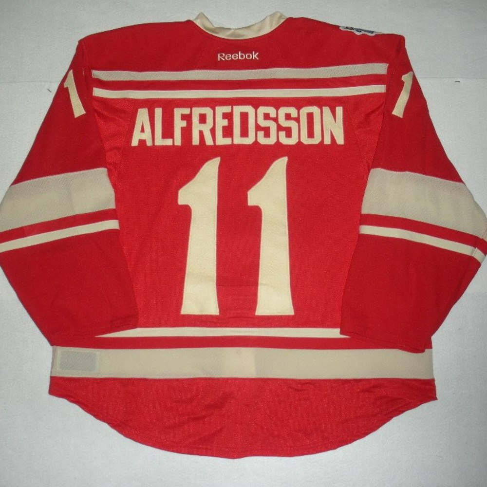 ... Jersey 11 Daniel Alfredsson - 2014 Winter Classic - Detroit Red Wings -  Red Game-Worn ... 697a77ec0