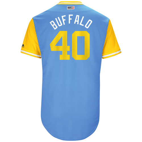 "Photo of Wilson ""Buffalo"" Ramos Tampa Bay Rays Game-Used Players Weekend Jersey"