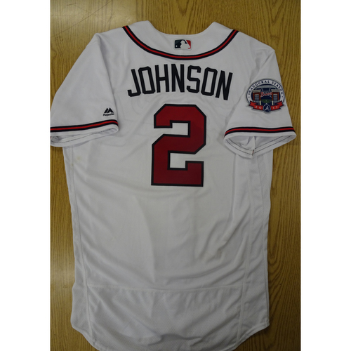 Photo of Micah Johnson Game-Used Los Bravos Jersey - Worn 9/17/17 at SunTrust Park