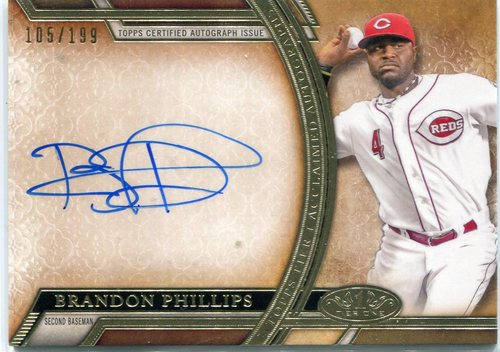 Photo of 2015 Topps Tier One Acclaimed Autographs  Brandon Phillips 105/199