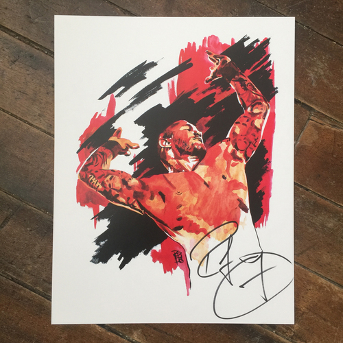 Photo of Randy Orton SIGNED 11 x 14 Rob Schamberger Print