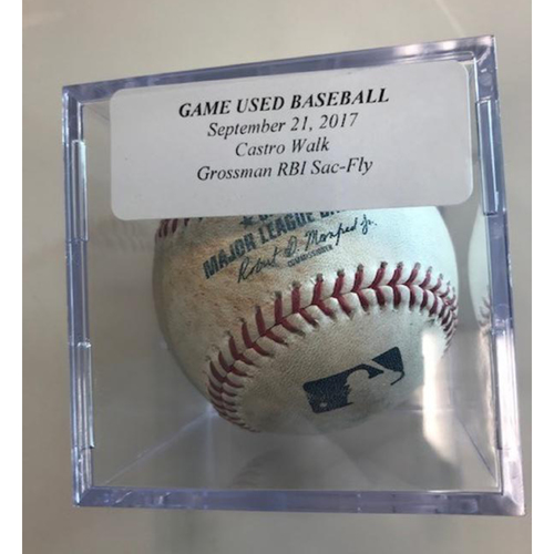 Photo of Game-Used Baseball: Jason Castro Walk and Robbie Grossman RBI Sac-Fly