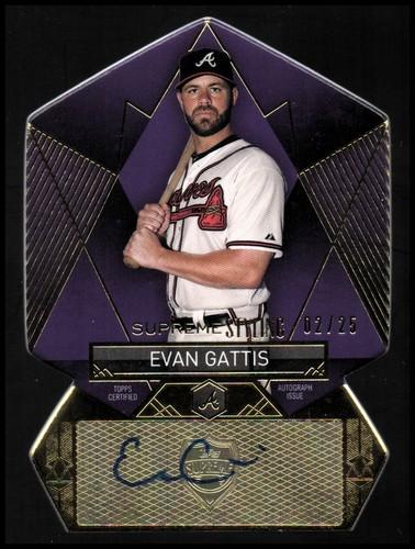 Photo of 2014 Topps Supreme Supreme Styling Autographs Purple #SSEG Evan Gattis