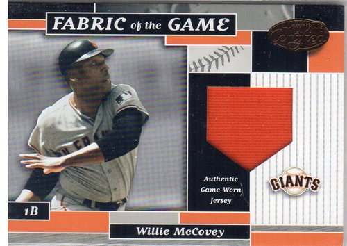 Photo of 2002 Leaf Certified Fabric of the Game #78BA Willie McCovey/80