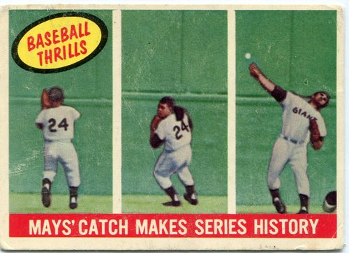 Photo of 1959 Topps #464 Willie Mays Baseball Thrills