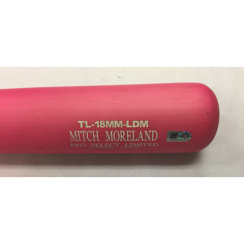 Photo of Mitch Moreland Team Issue May 13, 2017 Pink Bat