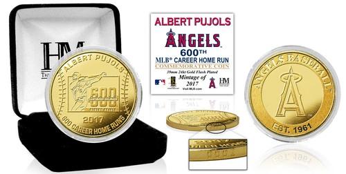 Photo of Serial #1! Albert Pujols 600th Career HR Commemorative Gold Coin