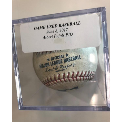 Photo of Game-Used Baseball: Albert Pujols Pitched in Dirt