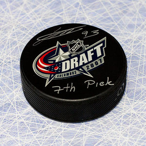 Jakub Voracek 2007 NHL Draft Day Puck Autographed w/ 7th Pick Inscription *Philadelphia Flyers*