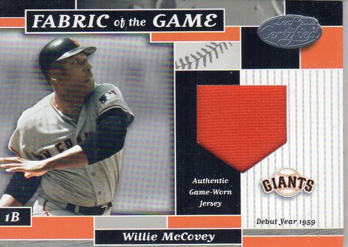 Photo of 2002 Leaf Certified Fabric of the Game #78DY Willie McCovey/59