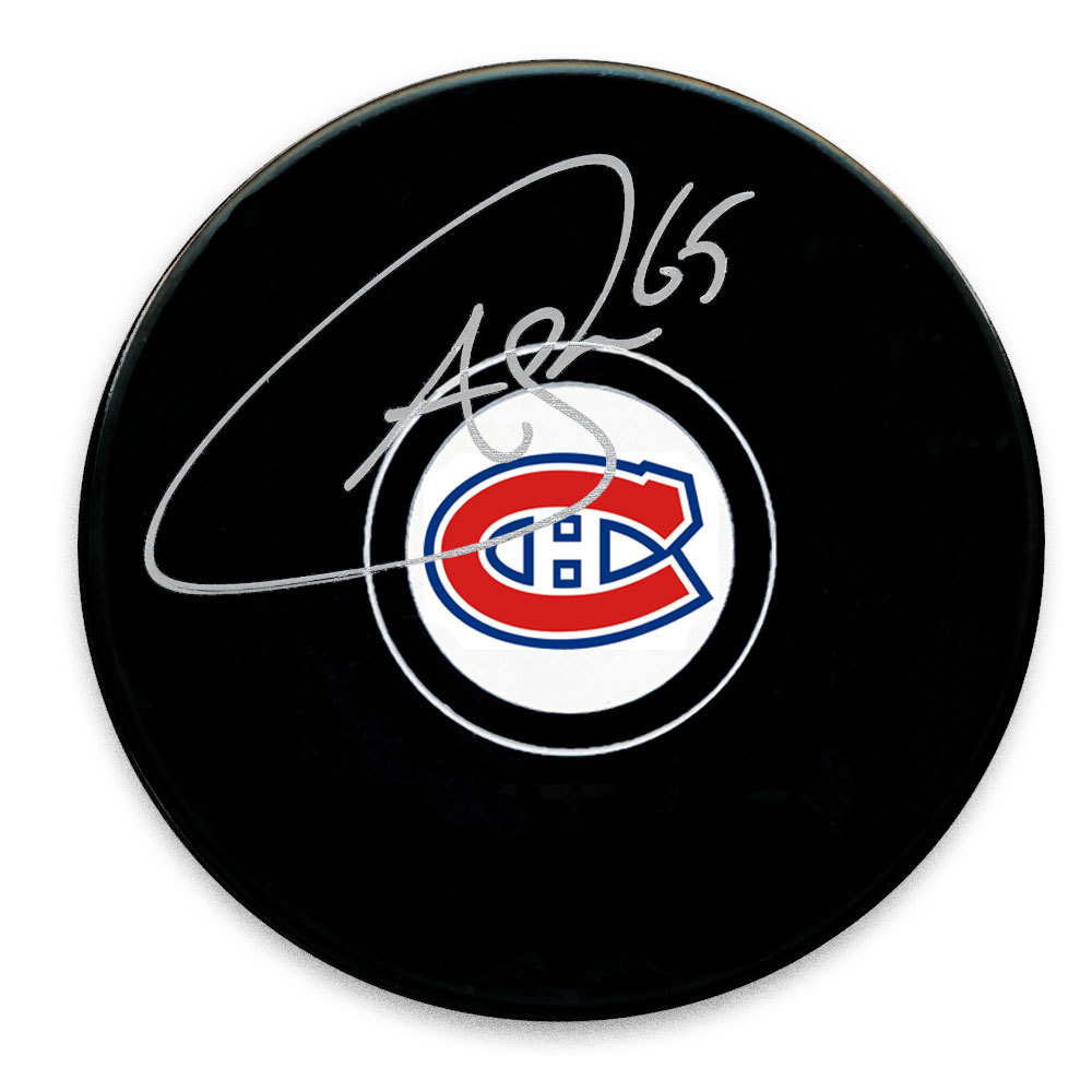Andrew Shaw Montreal Canadiens Autographed Puck