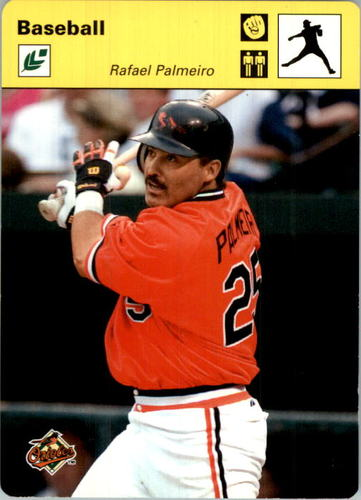 Photo of 2005 Leaf Sportscasters 30 Yellow Throwing-Glove #36 Rafael Palmeiro