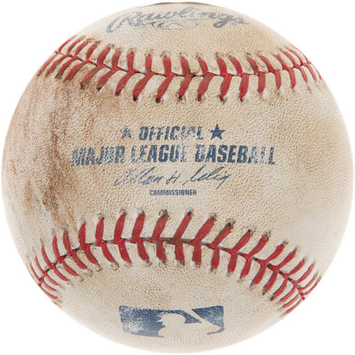 Photo of Game-Used Baseball from Xander Bogaerts' Major League Debut Game