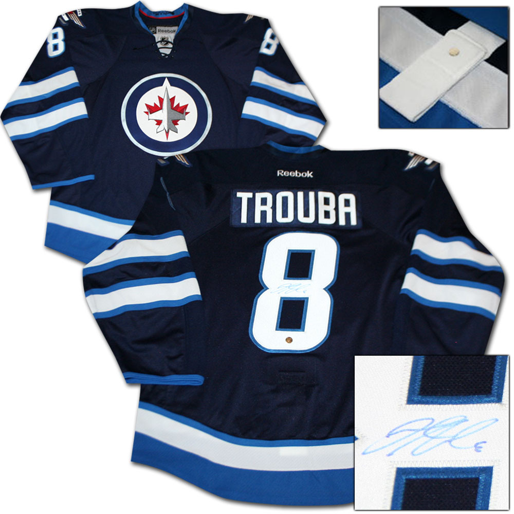 Jacob Trouba Autographed Winnipeg Jets Authentic Pro Jersey