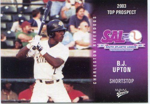 Photo of 2003 South Atlantic League Prospects Multi Ad #27 B.J. Upton