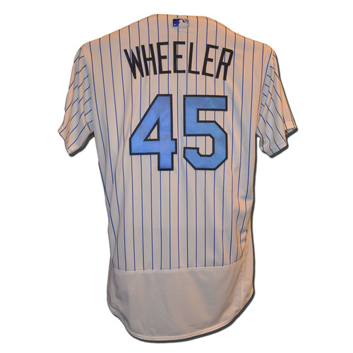Photo of Zack Wheeler #45 - Team Issued Father's Day Jersey - Mets vs. Nationals - 6/18/17