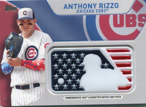 Photo of 2017 Topps Independence Day MLB Logo Patch #IDMLAR Anthony Rizzo
