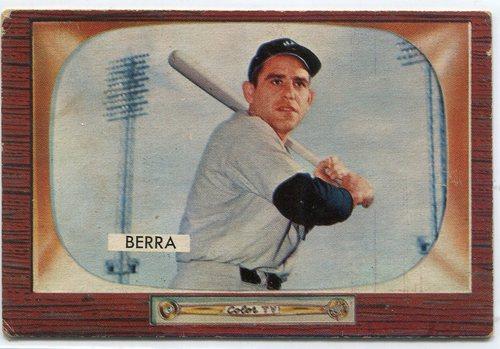 Photo of 1955 Bowman #168 Yogi Berra-- Hall of Famer