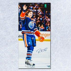 Ryan Smyth Edmonton Oilers Autographed Last Game Farewell 14x28 Art Canvas L#/94