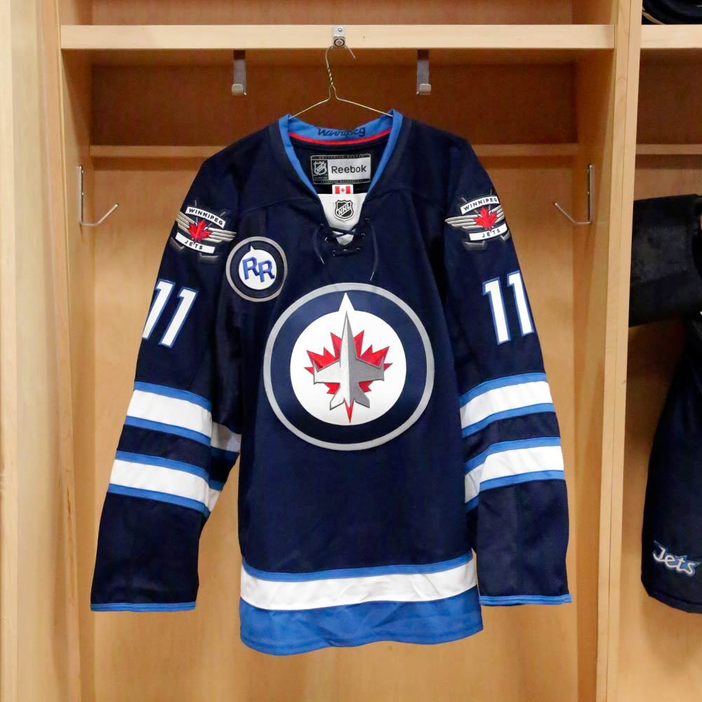 Dustin Byfuglien - Warm-Up Issued - Commemorative Rick Rypien Jersey - Winnipeg Jets